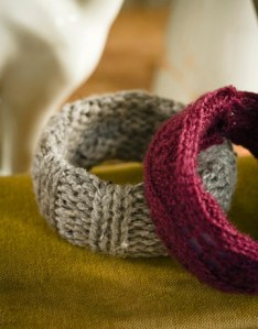 bangle bracelets from recycled sweaters