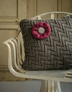 throw pillow from recycled sweaters