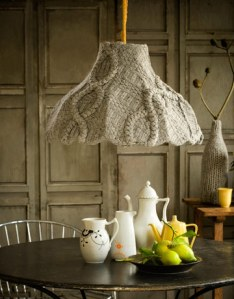 recycle sweater lampshade