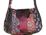 purse from upcycled ties