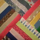 detail of Crazy Road quilt